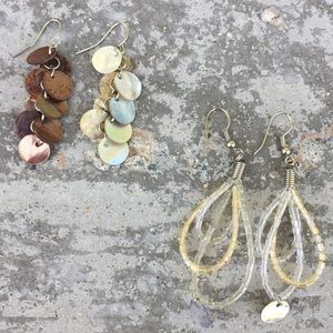 Earrings - two pairs neutral colours